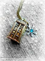 Custom Tardis Pendant- Available 11-21-14 by ArtByStarlaMoore
