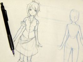 WIP- Sketch - Lily Body Model Sheet! by Yuuki-Tachi