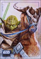 Yoda and Kybuck by DavidDeb