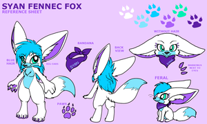 Syan Reference Sheet by LittleRock3DD