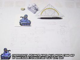 Advance Wars Blue Moon Tank WIP 2a by ninjatoespapercraft