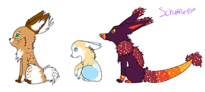New Characters I designed o.o by Schuffles