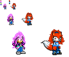 :PC's: Angy and Maria sprites by TechnoGamerSpriter
