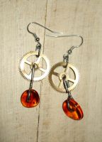 Amber earrings by Xenaris