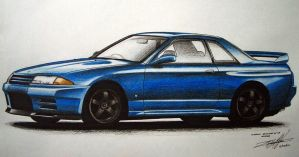 Nissan Skyline GT-R BNR32 by EdgardoS