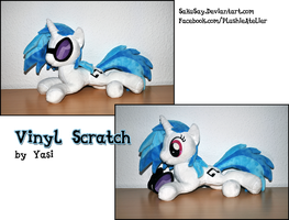Lying Vinyl Scratch Plushy by SakuSay