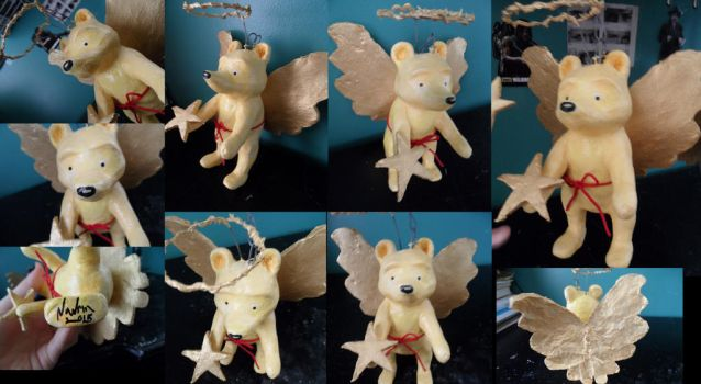 classic winnie the pooh christmas sculpt by Navrin