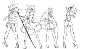 Creepypasta Magical Girls...er boys by Chibi-Works