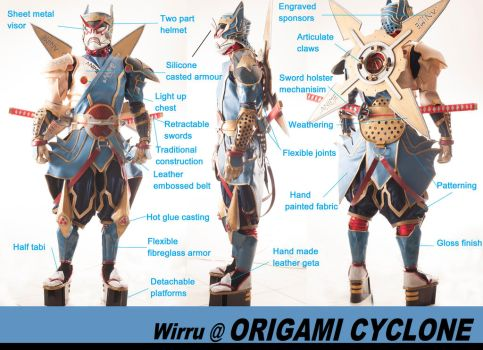 Origami Cyclone HERO SUIT by AmenoKitarou