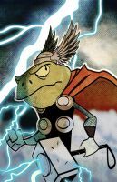 Frog Thor by CartoonCaveman