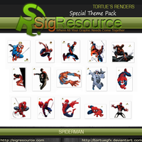 Special Render Pack : Spiderman by Tortuegfx