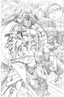 Surfer and Galactus by qiunzo
