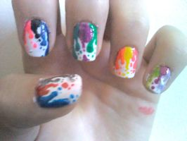 Paint Drips Nail Design by Experimently-Bernsie