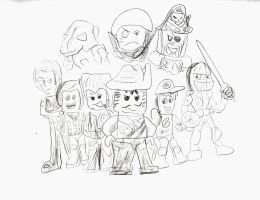 Sketch of LEGO Characters by SonicClone
