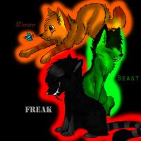 AT.Freak monster and Beast by DarkFoxspirit101
