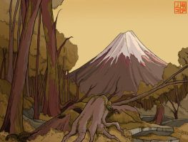 Mt Fuji layout design by Sheharzad-Arshad