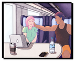Train Ride by LoveToTheCucumber