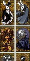 Rabbit Tarot Business Cards by Nortiker