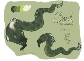 Snack the Snakedog by DaggarHeart