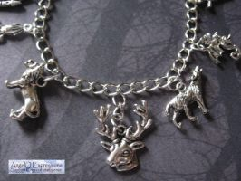 Game of Thrones Houses Charm Bracelet by SpellsNSpooks