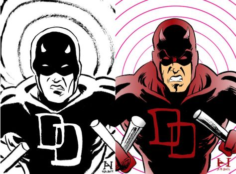 Daredevil, Then vs. Now by IanJMiller