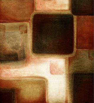 Red and Brown Squares III by thundercake