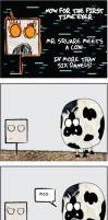 Mr. Square: The Cow issue by RevFitz