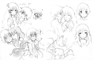 Sketches in a Heartbeart by Anigirl5