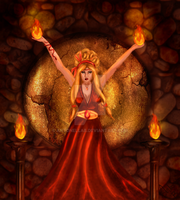 Vesta The fire Goddess by AntonellaB