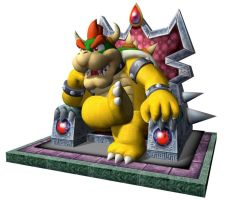 Bowser King Of The Koopas (Mario Party 4 Poster) by DryBowzillaJP