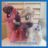 Sugar Bell and Double Diamond Plushie Comisssion by CINNAMON-STITCH