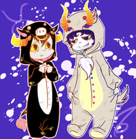 KS - Bull and Goat by Erina-chan