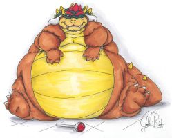 Hungry Bowser by Sonic175