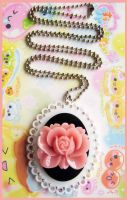 Flower Acrylic Necklace by cherryboop