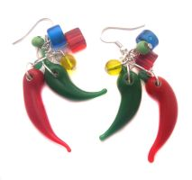 Chilli Pepper Earrings by fairy-cakes