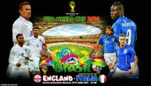 England - Italy World Cup 2014 by jafarjeef