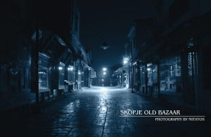 Skopje Old Bazaar at Night by mitatos