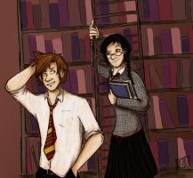 Evenings in the Library by theamazingkepso