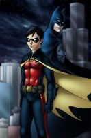 Batman and Robin by TravisTheGeek