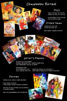 Sketchcard Commissions Rates by CapnFlynn