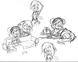 Mary x Zik adults sketches by Angi-Shy