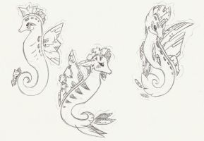 BioTech Seahorses by CelestialTentails