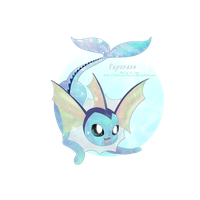 Vaporeon by sonicelectronic