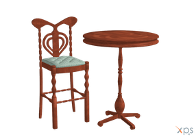 Bar stool and table by LuxXeon by Tiffli