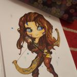 Woad Ashe Chibi - Traditional by MajesticPoro