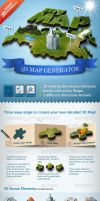 3D Map Generator Action by PremiumPSDFiles