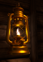 Golden Oil Lamp by FinnAkira