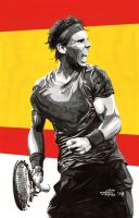 Rafael Nadal Spain Flag by jovigolf