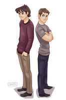 young winchester bros by ggns