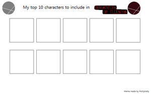 Top 10 Characters to include in CoI by MollyKetty